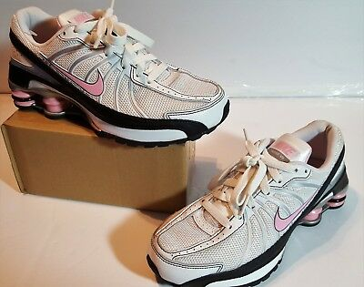 Nike Shox Turbo VII Athletic Youth Girls Shoes Pink Swoosh Size 5Y Running  EUC 399fc4f51