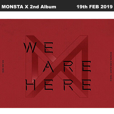 MONSTA X Take.2 We Are Here 2nd Album CD+Book+Polaroid+Card+Etc+Tracking Num