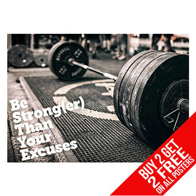 Weightlifting Gym Motivational Weights Poster A4 A3 - Buy 2 Get Any 2 Free