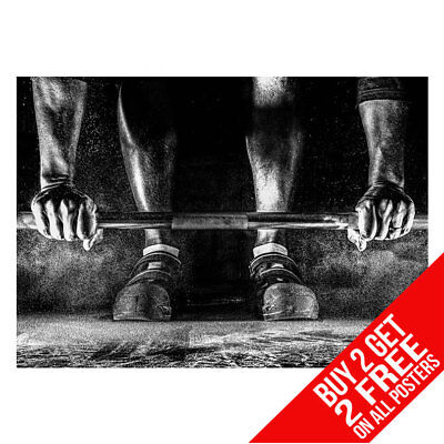 Weightlifting Gym Motivational Weights Poster A4 A3 -Buy 2 Get Any 2 Free