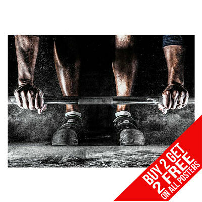 Weightlifting Motivational Gym Weights Poster A4 A3 -Buy 2 Get Any 2 Free