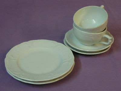 Rosenthal Classic Rose Collection Form Sanssouci Teegedeck 3 teilig Farbe weiss