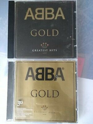 ABBA Gold The Greatest Hits Black Sleeve & Gold Sleeve very best of CD lot