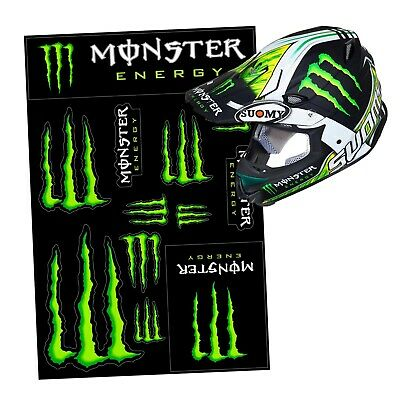 Monster Energy Drink Logo Sheet of 12 Stickers Decals Аuthentic