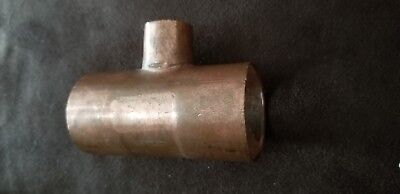 "1-1/2"" x 1-1/2"" x 3/4"" Copper T Tee Sweat Solder Pressure Fits 1-5/8"" Tube"
