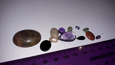 Mixed gemstone lot - LOOSE - D - mixed sizes and types - bargain price