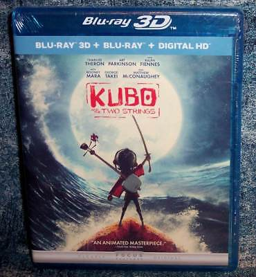 New Kubo And The Two Strings 3D Blu Ray & Blu Ray 2 Disc Animated Movie 2016