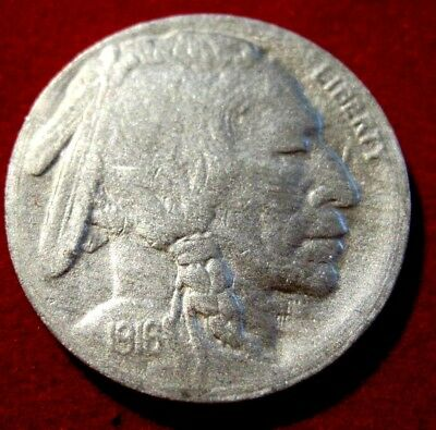 1916S BUFFALO 5c VF Details RB2218  55c Shipping,FREE SHIPPING on 3 or more**