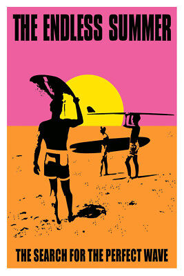 THE ENDLESS SUMMER MOVIE LAMINATED FINE Art Poster 610x910mm (24x36in)