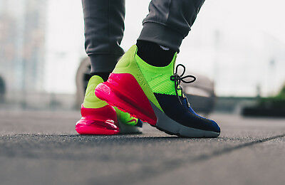 """Nike Air Max 270 Flyknit """"Retail $170"""" Running Shoes AO1023-501 Size 12"""