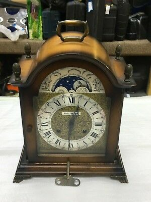 """Vintage Seth Thomas """"Two Jewels"""" Lunar Desk Clock with Moon and Stars"""