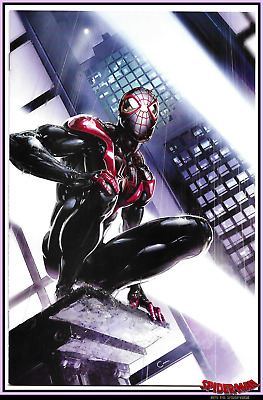 Miles Morales Spider-Man #1 Clayton Crain Virgin Variant Spider-Verse Marvel Nm