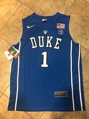 2a3e898c6344 NEW Nike Duke Blue Devils Elite Basketball Jersey Stitched  1 Duval Medium