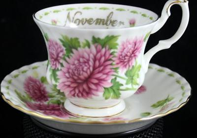 Royal Albert FLOWER OF THE MONTH (Montrose) Cup & Saucer GREAT CONDITION