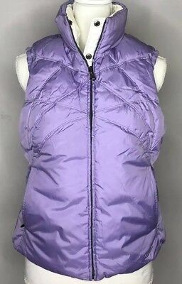 f59ccf25be398 Womens NIKE White Purple Reversible Down Insulated Puffer Vest Size M 8 10