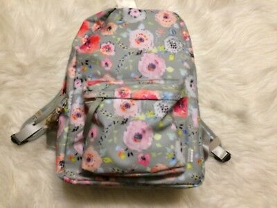 Haute Girls Floral on Gray Backpack NWT