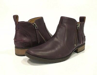 6167f4396b9 AUTHENTIC WOMENS UGG AUREO Ankle Boots - Oxblood Leather Size 8.5 ...