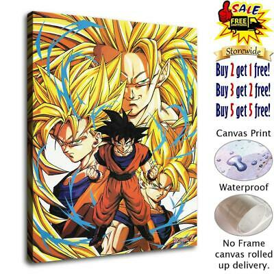 Goku and Gohan HD Canvas Print Painting Home Decor room Wall Art Picture 124840
