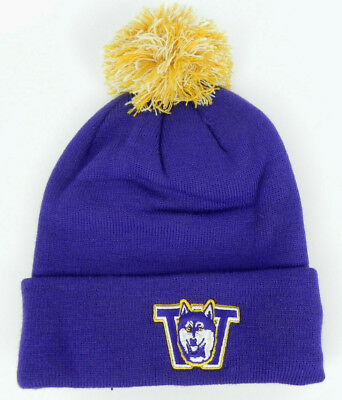 1bdeb068f6a Washington Huskies Purple Vault Ncaa Vintage Knit Beanie Pom Z Ski Cap Hat  Nwt