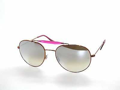 32e34174c42a38 RAY BAN SunglaSSeS 3540 SHINY BRONZE GRAY FLASH GRADIENT 198 9U NEW 53