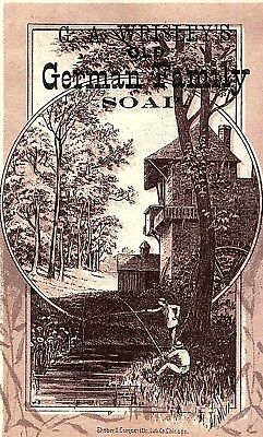 1880's G.A. Wrisley's Old German Family Soap Victorian Trade Card *I