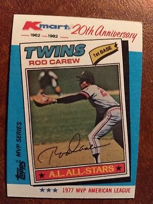Minnesota Twins Rod Carew 1982 Topps Kmart 20th Anniversary 31 Of