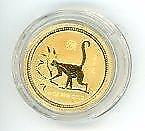 2004 Australian $25.00 1/4 Ounce Year of The Monkey Gold Coin