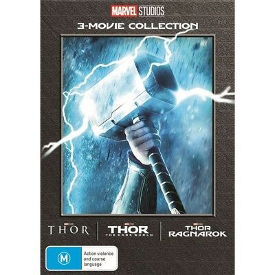 Thor 3 Movie Collection Thor + The Dark World + Ragnarok R4 New & Sealed