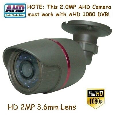 "137C Sunvision 2.0MP AHD 1080p 1//3/"" CMOS In//outdoor Camera 36IR 2MP 3.6mm Lens"