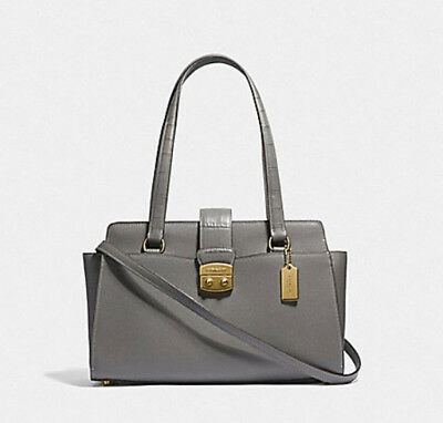 COACH Avary CARRYALL Satchel F38082 Tote  shoulder bag Gray NWT