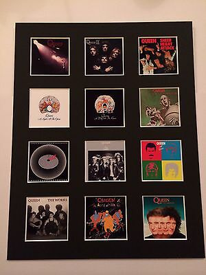 """Queen LP Mounted Discography 14"""" By 11"""" Picture Freddie Mercury"""
