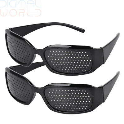 Fansport 2 Pair Vision Correction Glasses Hole Improve Vision Care Eye Exercise