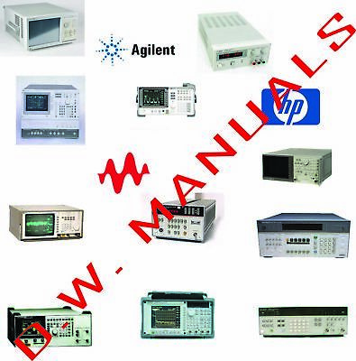 HP Agilent Keysight Operation Repair Service manual 2000+ manuals 3 DVD