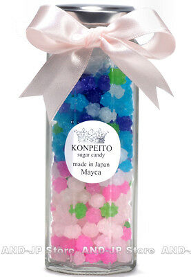 Konpeito Japanese Candy Glass bottle Ai series Crystal Sugar Candy