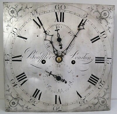 Eight Day Longcase Movement - Silvered Dial - London Maker