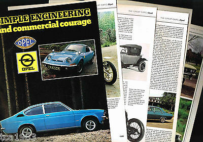 Old OPEL Cars/Auto History Article / Photos / Pictures: MANTA,KADETT,