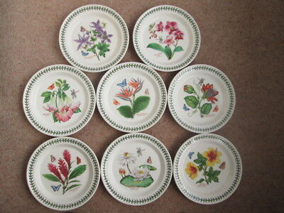 "Portmeirion Exotic Botanic Garden Dinner Plates 10.5"" Wide All New"