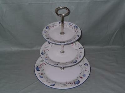 Royal Doulton Windermere Expressions 3-Tier China Hostess Cake Plate Stand
