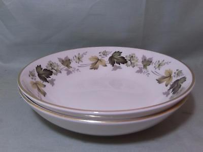 "2 Royal Doulton Larchmont Bone China Soup Cereal Dessert Bowls 6.75"" TC.1019 (A)"