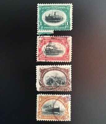 1901 US Pan.-Amer. Expo Issue 1c #294 2c #295 8c #298 10c #299 Used Lot of 4