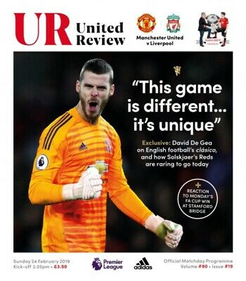 PRE-ORDER Manchester United v Liverpool 2018/19 brand new football programme