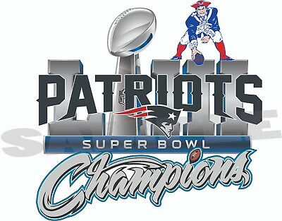 New England Patriots 2019 Super Bowl Champions 53 Decal / Sticker