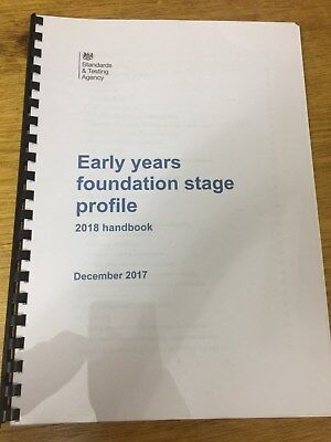 2018 EYFS Early Years Foundation Stage Profile Handbook LATEST EDITION