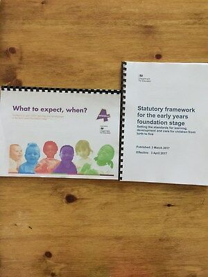 EYFS Statutory Framework and What to Expect, when? Pack