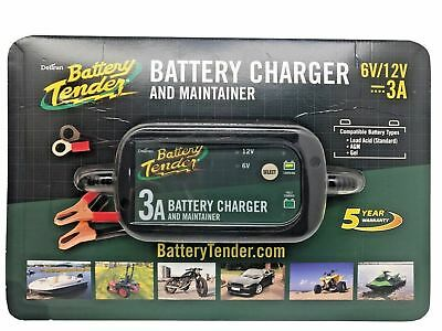 Deltran Battery Tender 6v 12v Charger and Maintainer 3A For Car Motorcycle Quad