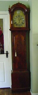 Antique Grandfather Clock - 3 Train Movement on 8 Bells.