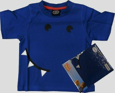 x100 CHAD VALLEY BLUE MONSTER FACE BOYS T-SHIRT SIZE 18-24 MONTHS - WHOLESALE