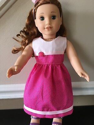 "Happy In Pink, Doll clothes, DRESS made for 18"" American Girl doll, Gotz"