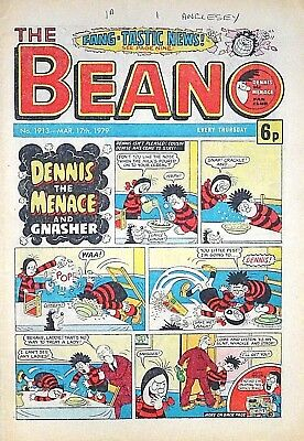 BEANO - 17th MARCH 1979 (15 - 21 March) SUPERB 40th BIRTHDAY GIFT !! VGC..topper