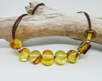 21.4 grams Beautiful Genuine Natural Baltic Amber Yellow Beads Necklace